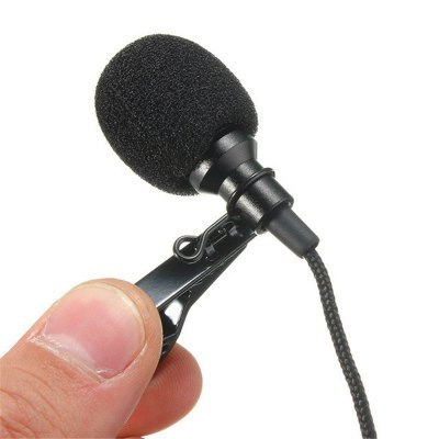 BALDR 3.5mm Jack Microphone Lavalier Tie Clip Microphones Microfono Mic For Speaking Speech Lectures 2.4m Long Cable