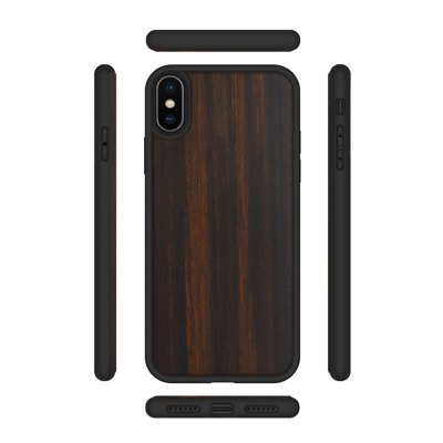 Ebony Phone Shell for iPhone X TPU Soft All-Inclusive Wood Cover