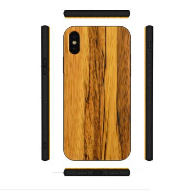TPU Stick Wooden Phone Shell iPhone X Pear Protection