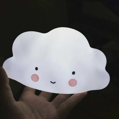 Cloud Smile Face LED Night Light Baby Bedroom Decor Lamps Sleeping Lighting Children Gifts Toys