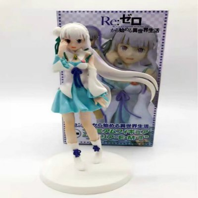 Cute Girl with White Hair Cartoon Action Figure Collectible Toy 20CM Height
