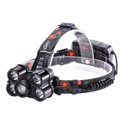 U`King ZQ-X861 5000LM 5x XML-T6 4 Mode Zoomable Rechargeable Multifunction Headlamp