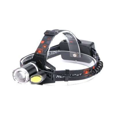 U'King ZQ-X856 XML-T6 2000LM 4 Mode Multifunction Zoomable High Brightness LED Headlamp with 2 Red White COB LEDs