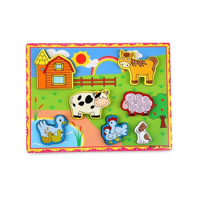 Meadow Animal Woodiness Jigsaw Puzzle