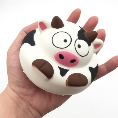 Jumbo Squishy Squeeze PU Dairy Cows Cake Packaging Collection Gift Soft Toy
