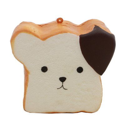 Jumbo Squishy Squeeze PU Toast Dog Packaging Collection Gift Soft Toy
