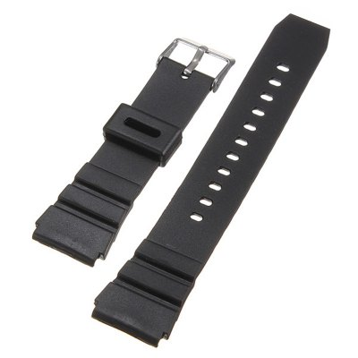 CAS01CB for Casio Watch Band Replacement Silicone Strap 18mm 20mm 22mm Width