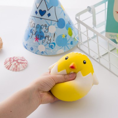 Jumbo Squishy Squeeze PU Chick with A Broken Shell Collection Gift Soft Toy 1PC