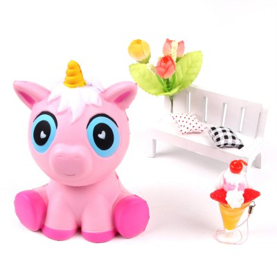 Jumbo Squishy Squeeze Unicorn PU Collection Gift Soft Toy