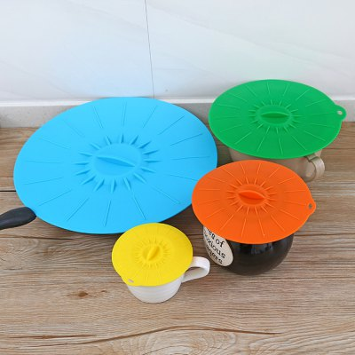 Universal Silicone Suction Lid-Bowl Pan Cooking Pot Lid-Silicon Stretch Cover Kitchen