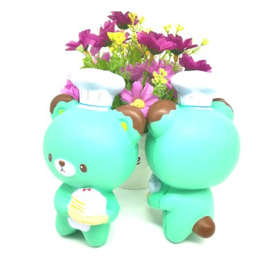 Jumbo Squishy PU Slow Rising Stress Relief Toy Replica Cartoon Chef Bear for Adults 1PC