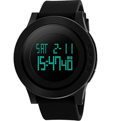 Men's Digital Sports Wrist Watch LED Screen Large Face Electronics Military Watches Waterproof Alarm Stopwatch Back Lig