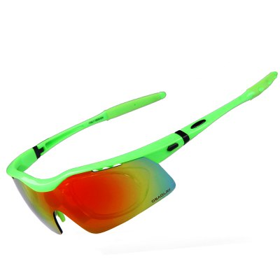 OBAOLAY SP0875 Sports Sunglasses With 5 Interchangeable Lens Cycling Baseball Glasses