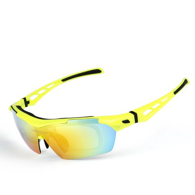 OBAOLAY SP0899 Polarized Sports Sunglasses Cycling Unbreakable Frame Durable Goggles