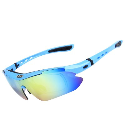 OBAOLAY SP0868 Polarized Sports Sunglasses Durable Unbreakable Frame Goggles Set