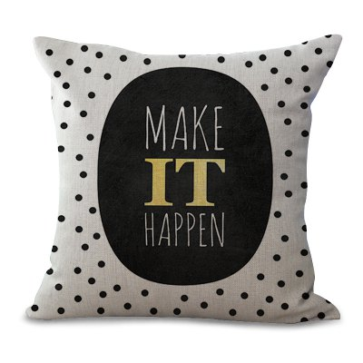 C1065 - 2 The New products gadgets English Letter Printing Sofa Cushion Cover Pillowcase 45 x 45cm