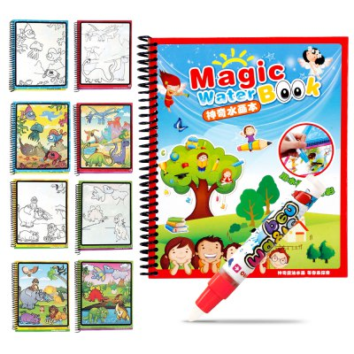 Children Magic Water Painting Writing Board Graffiti Painting Baby Kindergarten Scene Painted Toys Book Copying