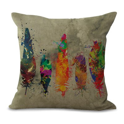 A1122 - 4 Fashionable Art Sofa Cushion for Leaning on Pillow Case Back Float Window Decoration 45 x 45cm