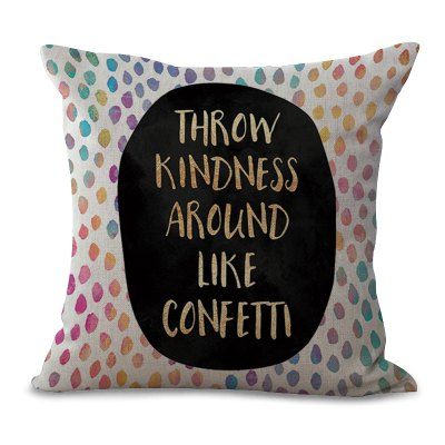 C1065 - 3 The New products gadgets English Letter Printing Sofa Cushion Cover pillowcase 45 x 45cm