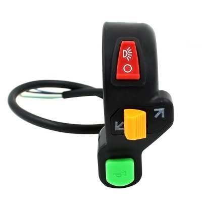 Motorcycle Headlight Switch 7/8 Handlebar ATV Headlight ON-OFF Kill Stop Switch (3 in 1 Combination)