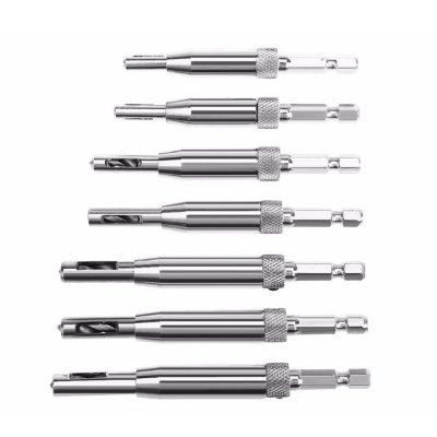 High-Quality 7PCS Self-Centering Hinge Twist Drill Tool