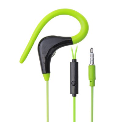 3.5MM Hanging Ear With Wheat Wired Sports Headphones