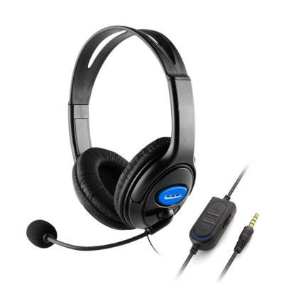Wired Unilateral Headphone Gaming Headsets Adjustable Online Live Game Chat Headset with Mic for PS4