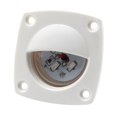Boat Marine RV Auto 12 Volt LED Square Courtesy Floor Lig