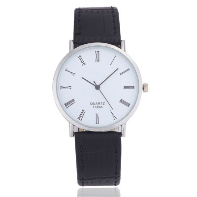 Business Casual Leather Band Men Analog Quartz Watch