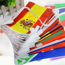 2018 FIFA World Cup Russia Soccer Football Fabric Bunting Banner String Flags