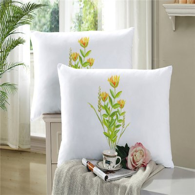 3D Selling Embroidery Painting Leaves Petal Pillow Sofa Cushion Cover SK10 Seven Leaves