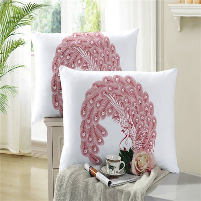 3D Painted Selling Embroidery Pillowcase Pillow Series Swan Feather Sofa Cushion Cover SK03