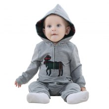 2018 Conjoined Cotton Newborn Hooded Crawling Spring and Autumn Baby Clothes