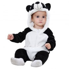 2018 Panda Spring and Autumn Flannel Animal Modeling Climbing Clothes Children Newborn Clothing