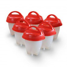 6PCS Egg Cooker Cooking Cup Eggs Boiled without Shell