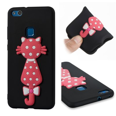 Case For Huawei P10lite Soft 3D Flower Cat Phone Case