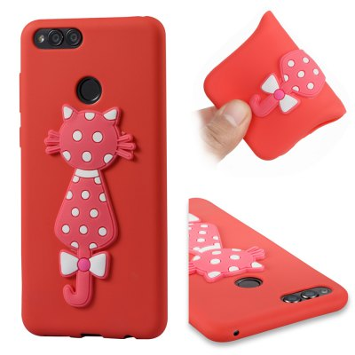 For Huawei Honors 7X Soft 3D Flower Cat Phone Case.