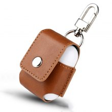 New Leather Case for Apple Airpods Protective Cover Pouch Anti Lost Protector Elegant Sleeve