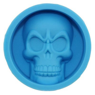 Skeleton Skull Head Silicone Chocolate Muffin Cupcake Candy Ice Cube Mold Halloween