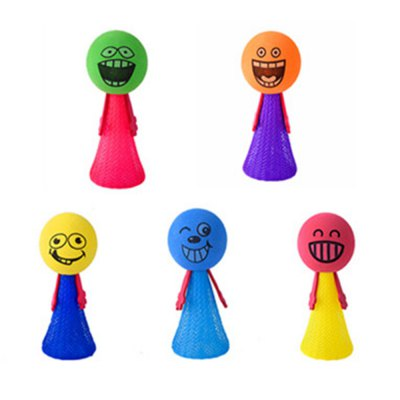 Creative Cartoon Image Fingertips Bouncing Toy for Baby 5PCS