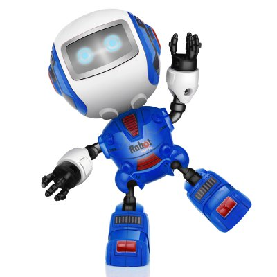 Smart Robot Toy Electronic Action Figure Control Head Touch-sensitive LED Light for Boys Birthday