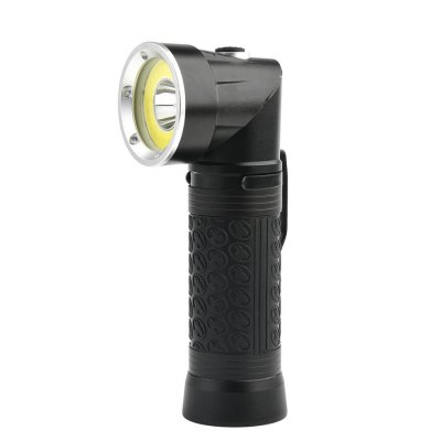 HKV Powerful LED Flashlight 18650 T6+COB Fold Multifunction Torch Light for Hunting Camping Search Lamp