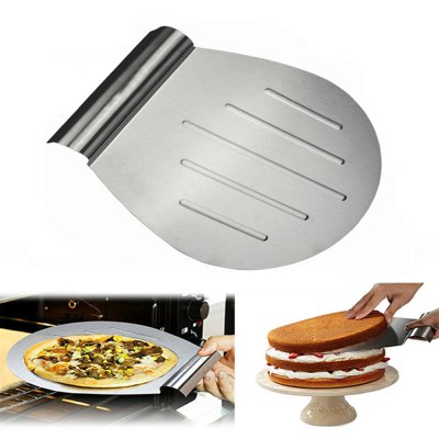 Stainless Steel Transfer Cake Tray Scoop Moving Plate Bread Pizza Blade Shovel
