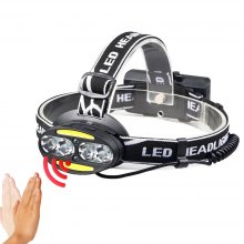 YWXLight XML-T6 + COB Headlamp Headlight USB Rechargeable Head Torch Lamp