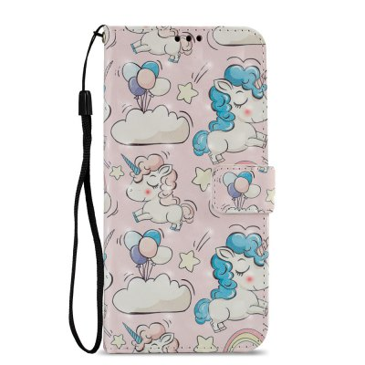 3D PU Leather Wallet Stand Case for Xiaomi Redmi 5 Plus Pink Pony Pattern