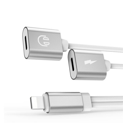 2 in1 Splitter Headphone Audio with Charge Adapter for iPhone X/ iPhone8/ iPhone 8 Plus/7/ iPhone7 Plus