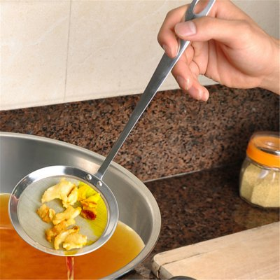 Stainless Steel Fine Filter Oil Scoop Hot Pot Soup Colander