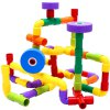 156 Capsules of Plastic Pipe Inserting Blocks Assembled Early Childhood Educational Toys deal