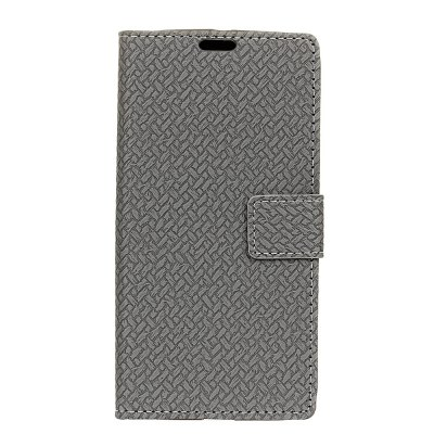 Cover Case For LG X Max Braided Pattern PU Leather Wallet