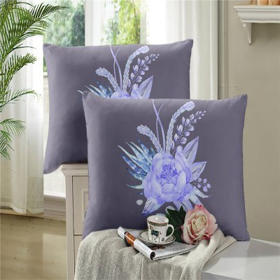 3D Selling Painted Embroidery Petals Leaves Series Pillow Sofa Cushion Cover Lotus SK01